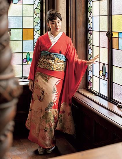 祖母・樹木希林の着物を着る内田伽羅
