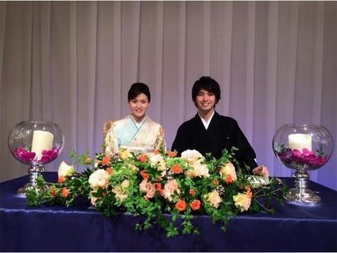 宮崎謙介と金子恵美の披露宴