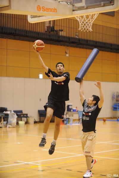 内田雅樂(2017年東アジアバスケットボール選手権大会直前強化合宿)